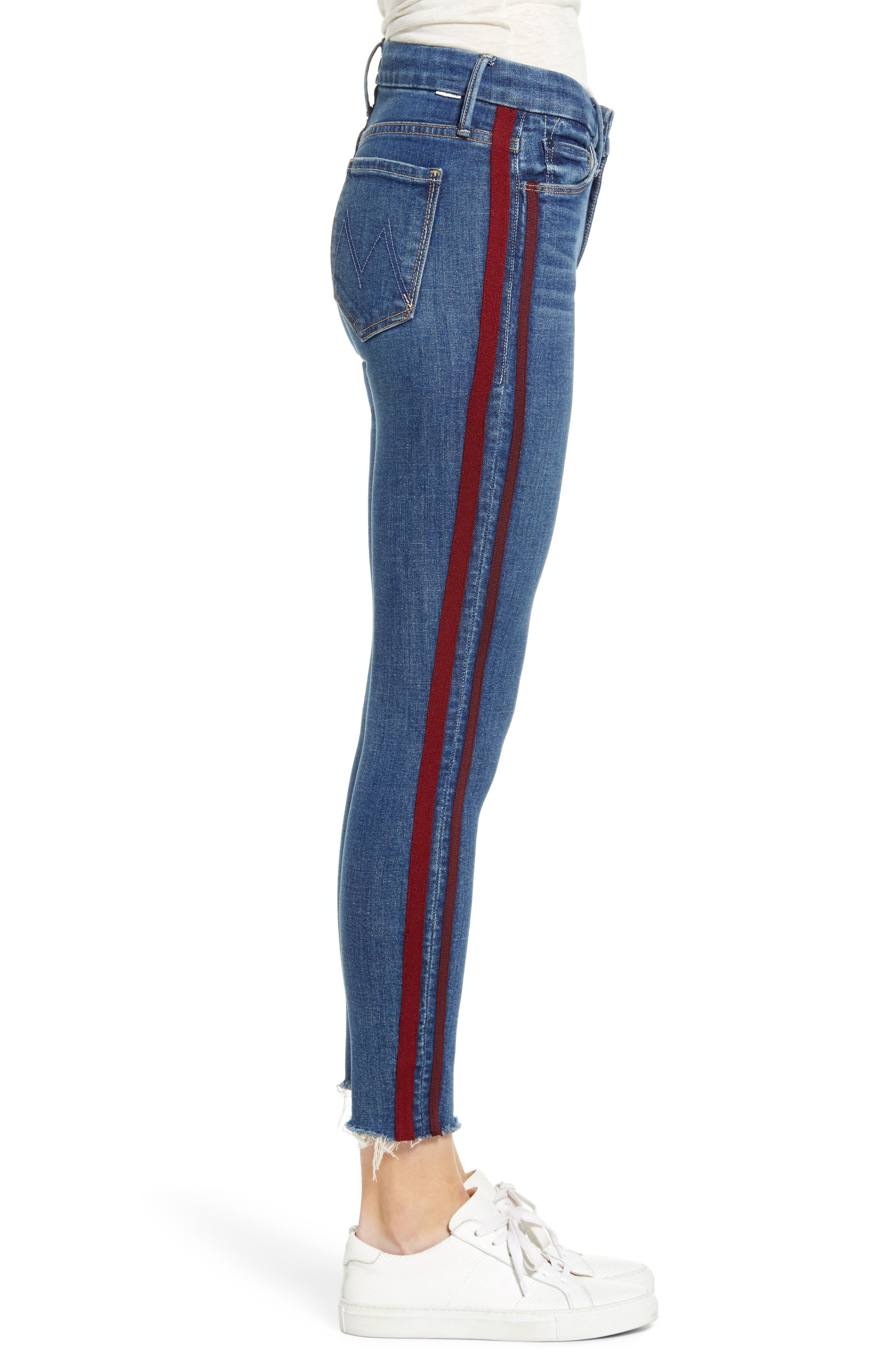 ,                             'The Looker' Frayed Ankle Jeans,                             Alternate thumbnail 10, color,                             420