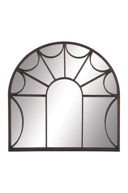 Image of Willow Row Black Modern Window Pane Mirror