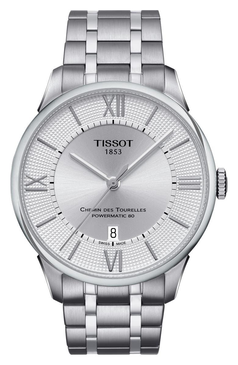 Tissot Chemin Des Tourelles Automatic Bracelet Watch 42mm