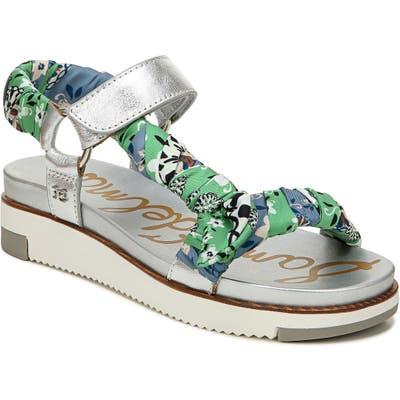 Sam Edelman Ashie Wedge Sandal- Metallic