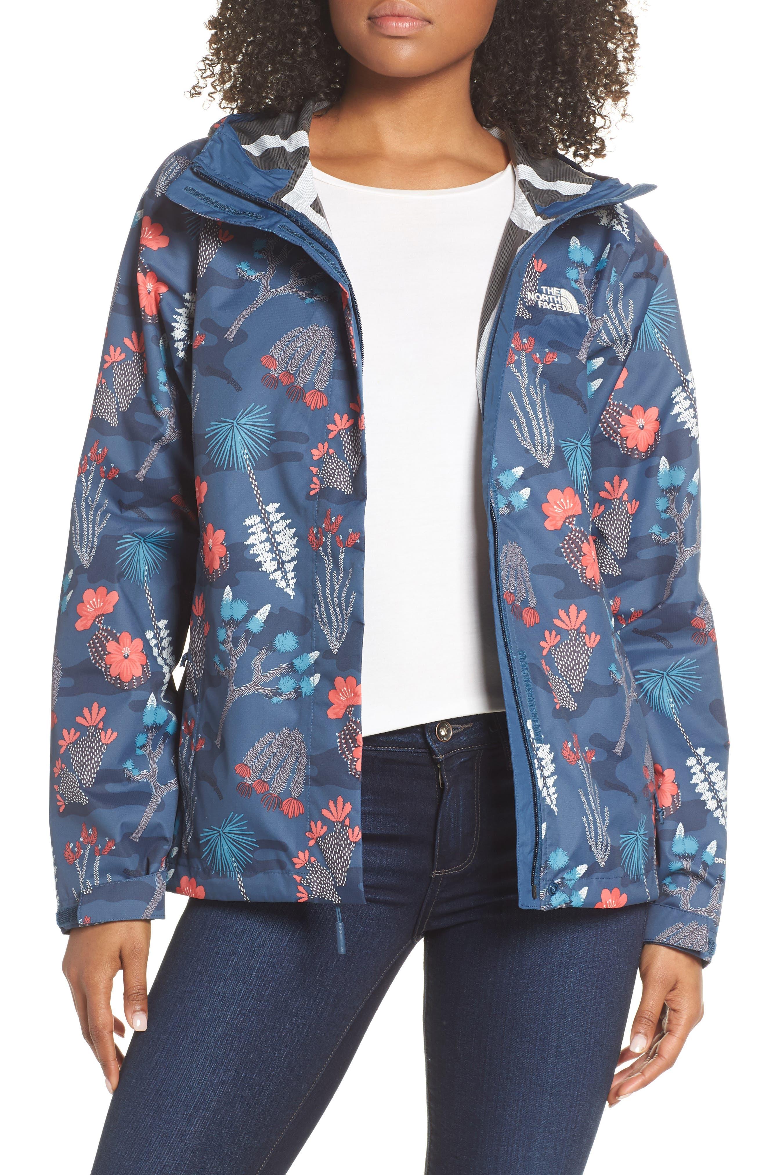 The North Face Venture Print Waterproof Jacket, Blue