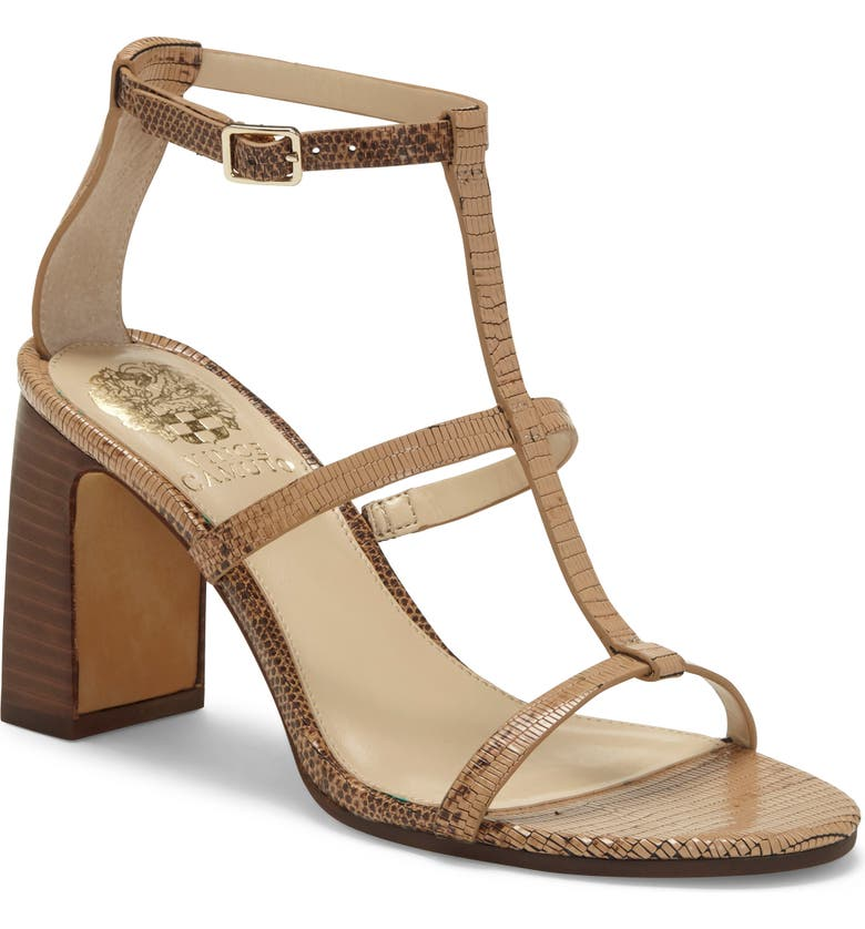 VINCE CAMUTO Balindah Cage Sandal, Main, color, CAMEL BROWN LEATHER