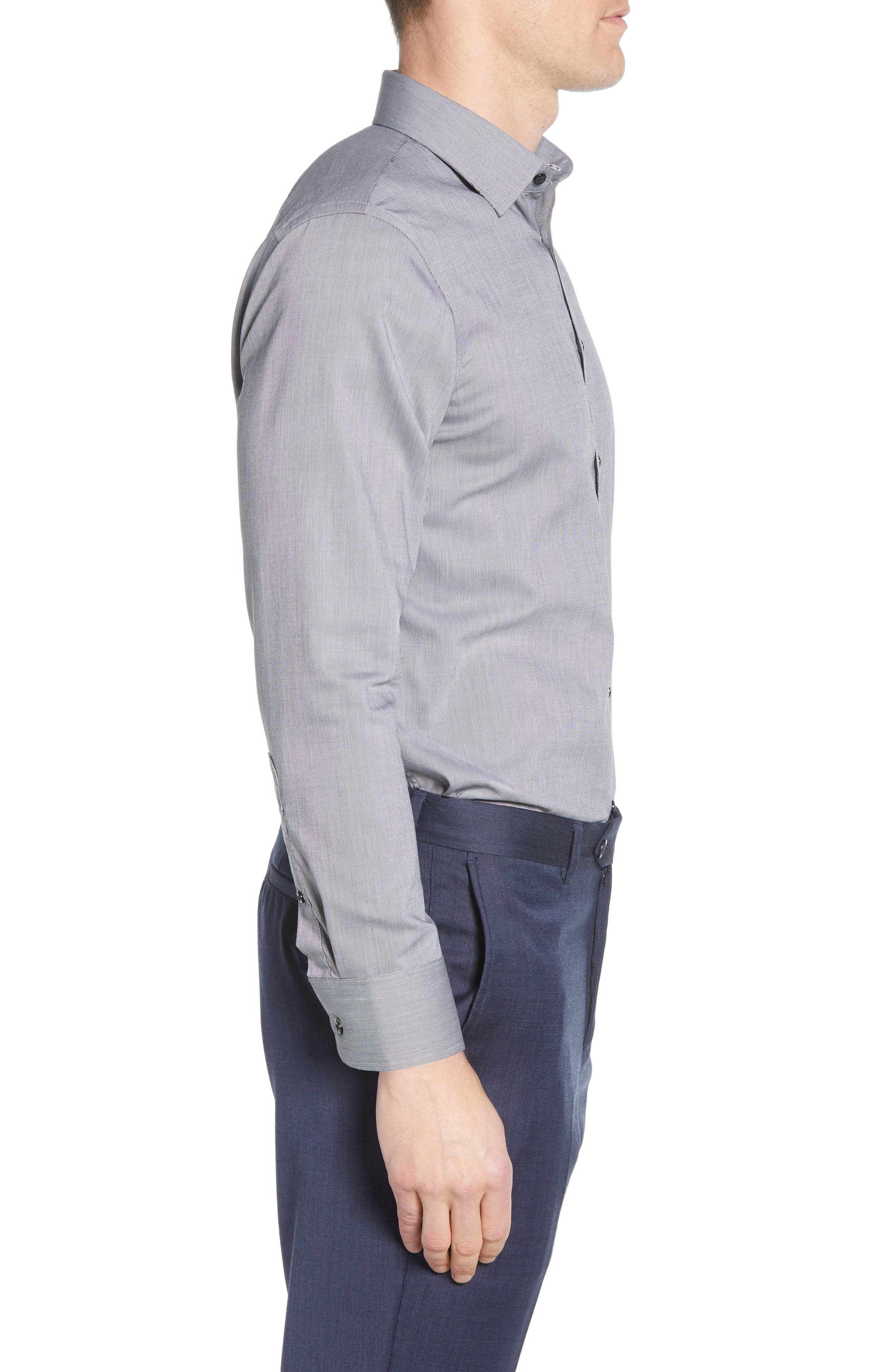 ,                             Extra Trim Fit Non-Iron Solid Dress Shirt,                             Alternate thumbnail 10, color,                             030