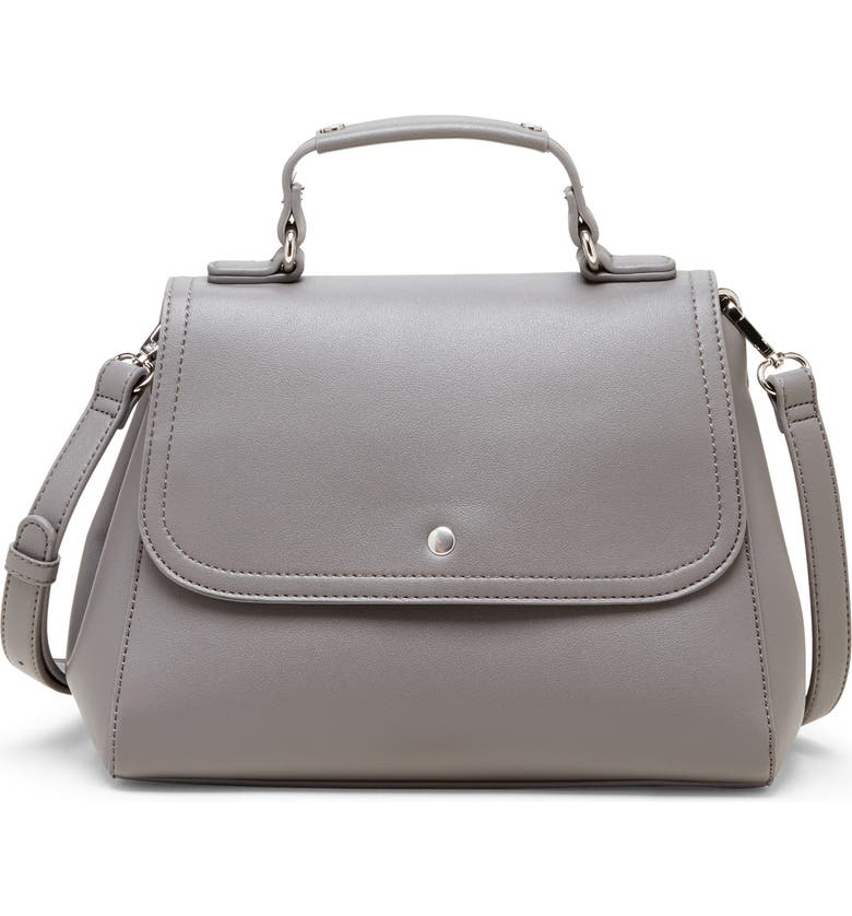 SOLE SOCIETY Hingi Faux Leather Satchel, Main, color, 020