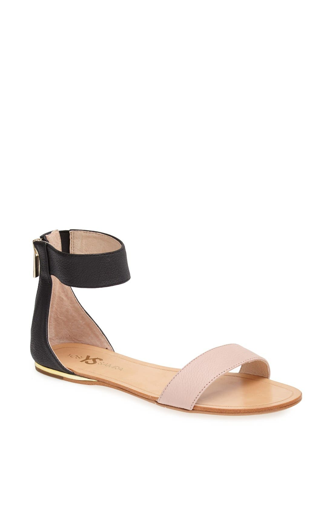 ,                             'Cambelle' Ankle Strap Sandal,                             Main thumbnail 1, color,                             001