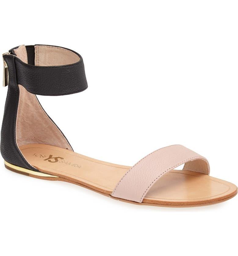 YOSI SAMRA 'Cambelle' Ankle Strap Sandal, Main, color, 001