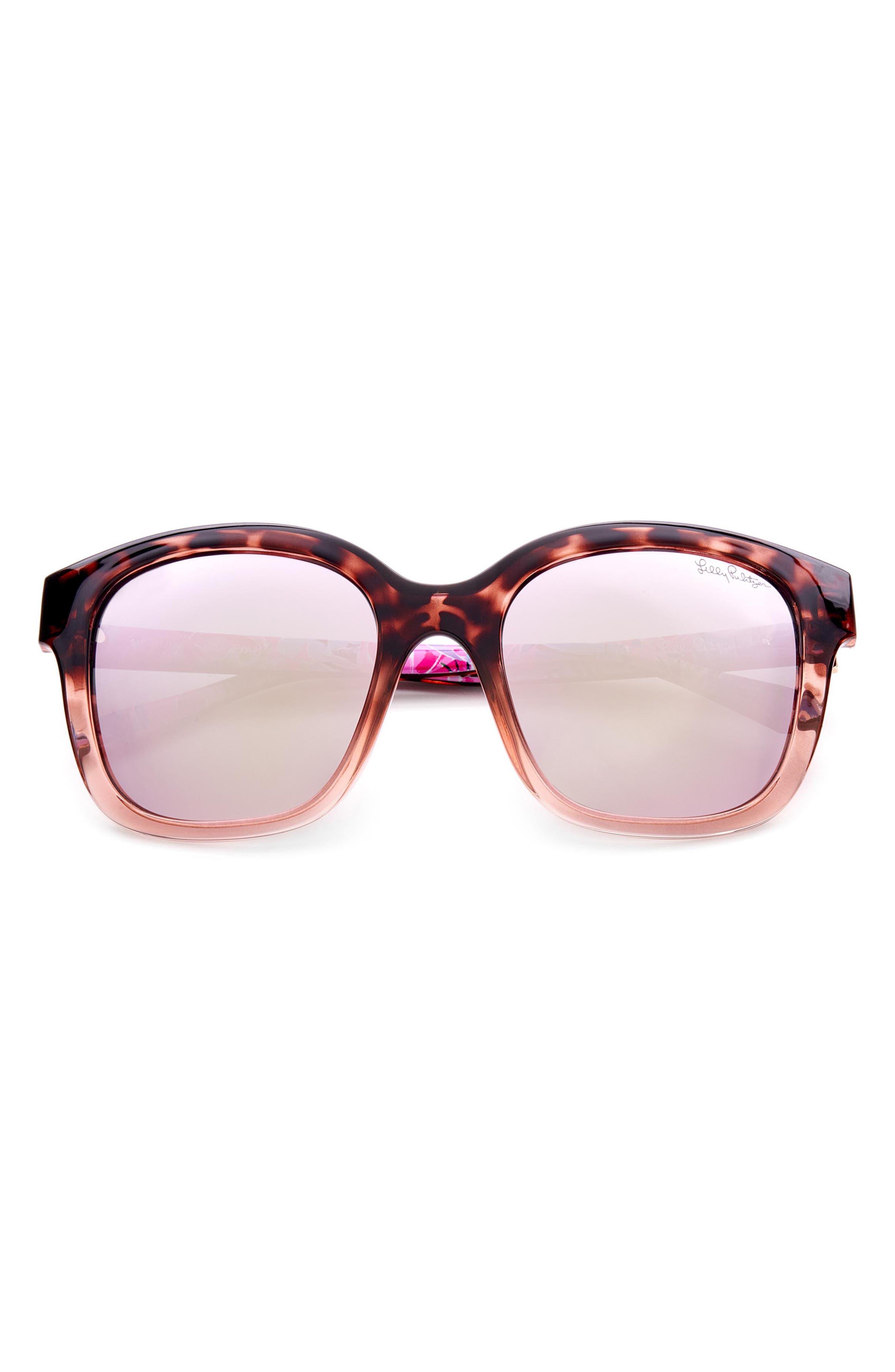 Women's Lilly Pulitzer 53mm Polarized Round Sunglasses