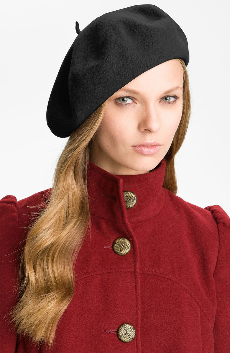 PARKHURST Basic Wool Beret, Main, color, 001