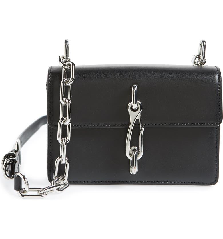 ALEXANDER WANG Hook Small Leather Crossbody Bag, Main, color, Black
