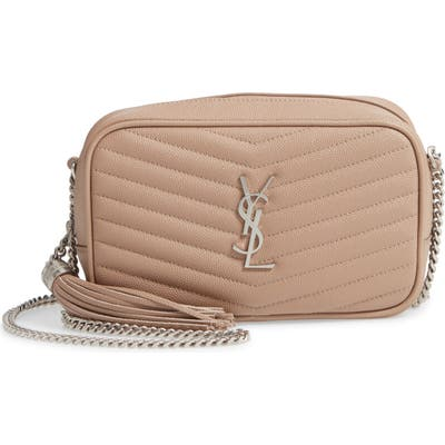 Saint Laurent Mini Lou Quilted Leather Crossbody Bag - Brown