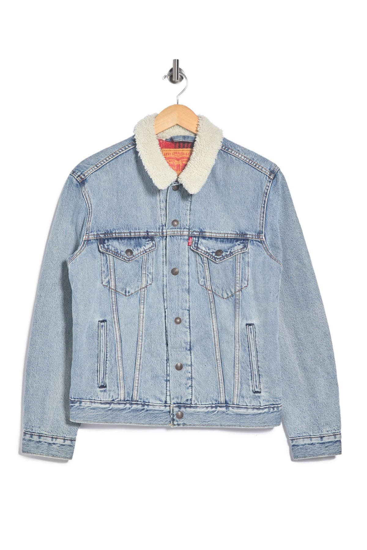 Image of Levi's Faux Shearling Trim Trucker Jacket