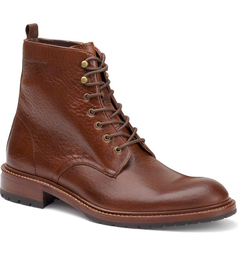 TRASK Lance Plain Toe Boot, Main, color, SADDLE TAN