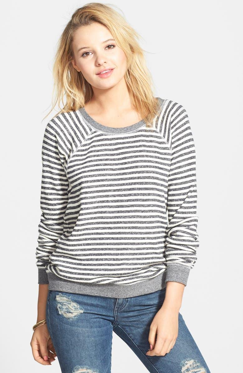 VOLCOM 'Hideaway' Stripe Pullover, Main, color, 001