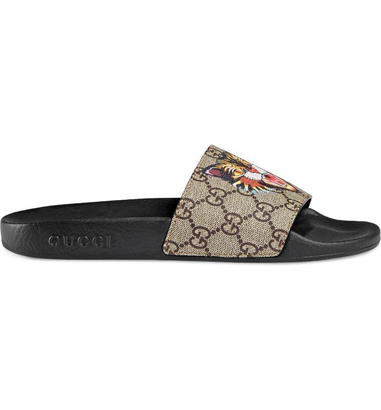 3556bdf02 Gucci Pursuit Tiger Print Slide Sandal (Women) | Nordstrom