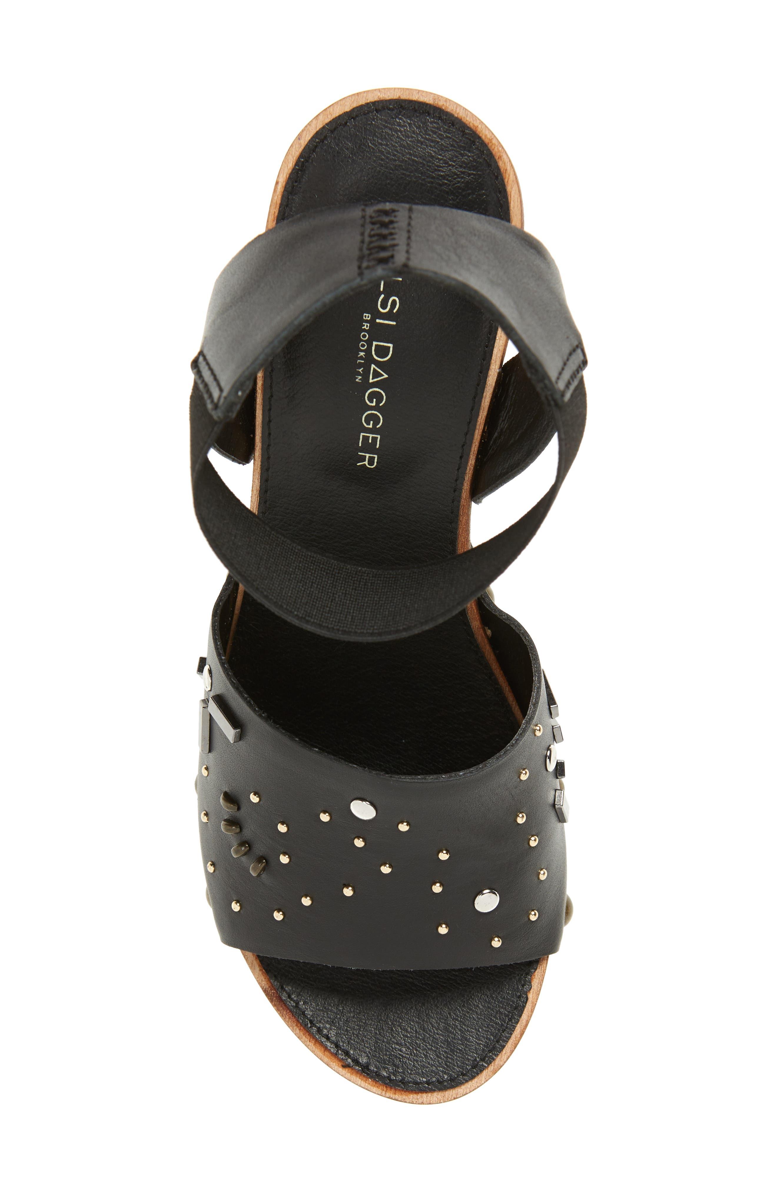 ,                             Frida Studded Platform Sandal,                             Alternate thumbnail 5, color,                             BLACK