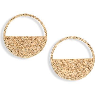 Sterling Forever Open Coin Stud Earrings