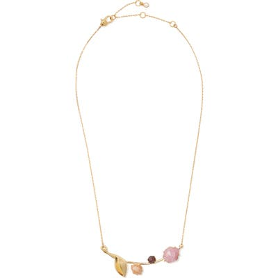 Kate Spade New York Floral Facets Bar Pendant Necklace