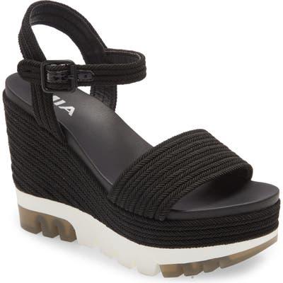 Mia Nakita Platform Wedge Sandal- Black