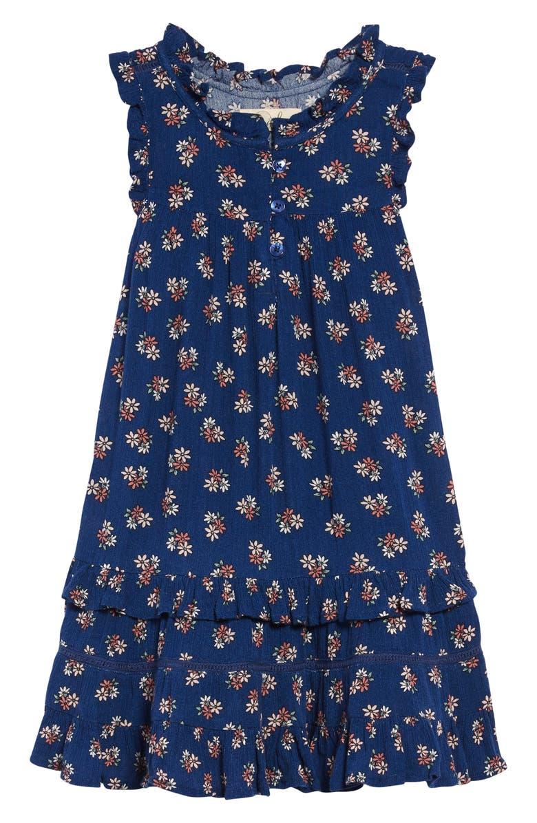 PEEK AREN'T YOU CURIOUS Valerie Floral Print Dress, Main, color, NAVY