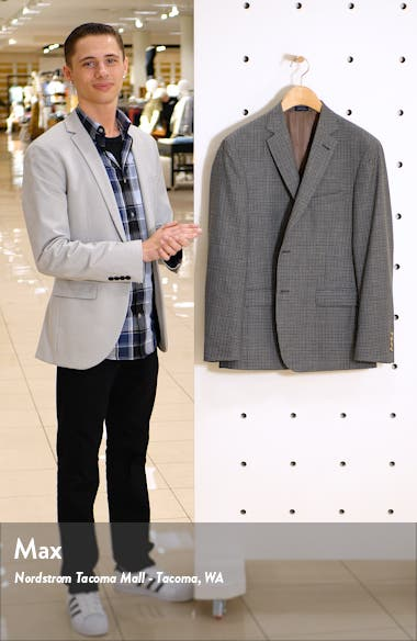 Traditional Fit Check Wool Blend Sport Coat, sales video thumbnail