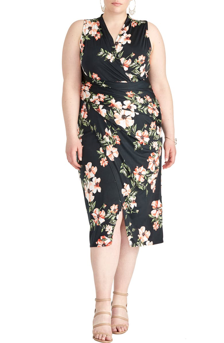 RACHEL Rachel Roy Wildflower Poppy Sheath Dress Plus Size