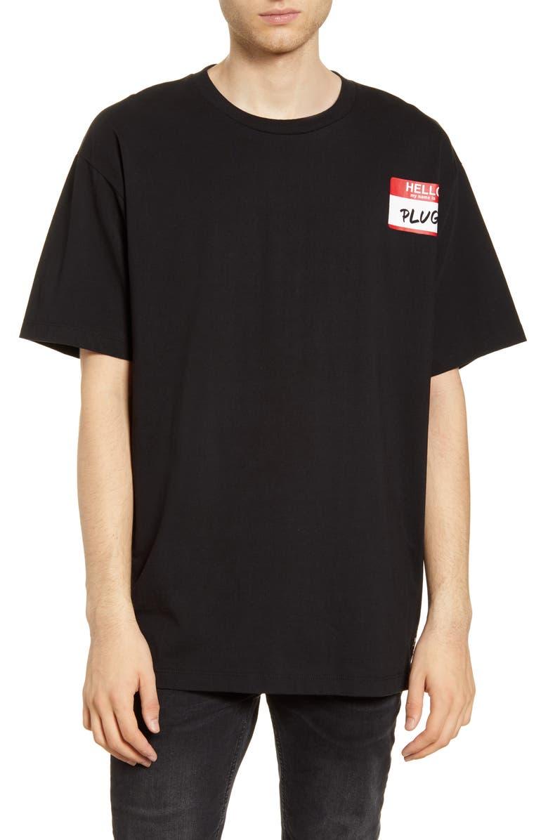 WESC Mason Plug T-Shirt, Main, color, BLACK