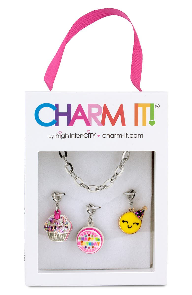 CHARM IT!<SUP>®</SUP> Birthday Charm Bracelet Gift Set, Main, color, SILVER