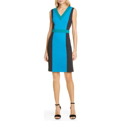 Dvf Arbor Colorblock Sheath Dress