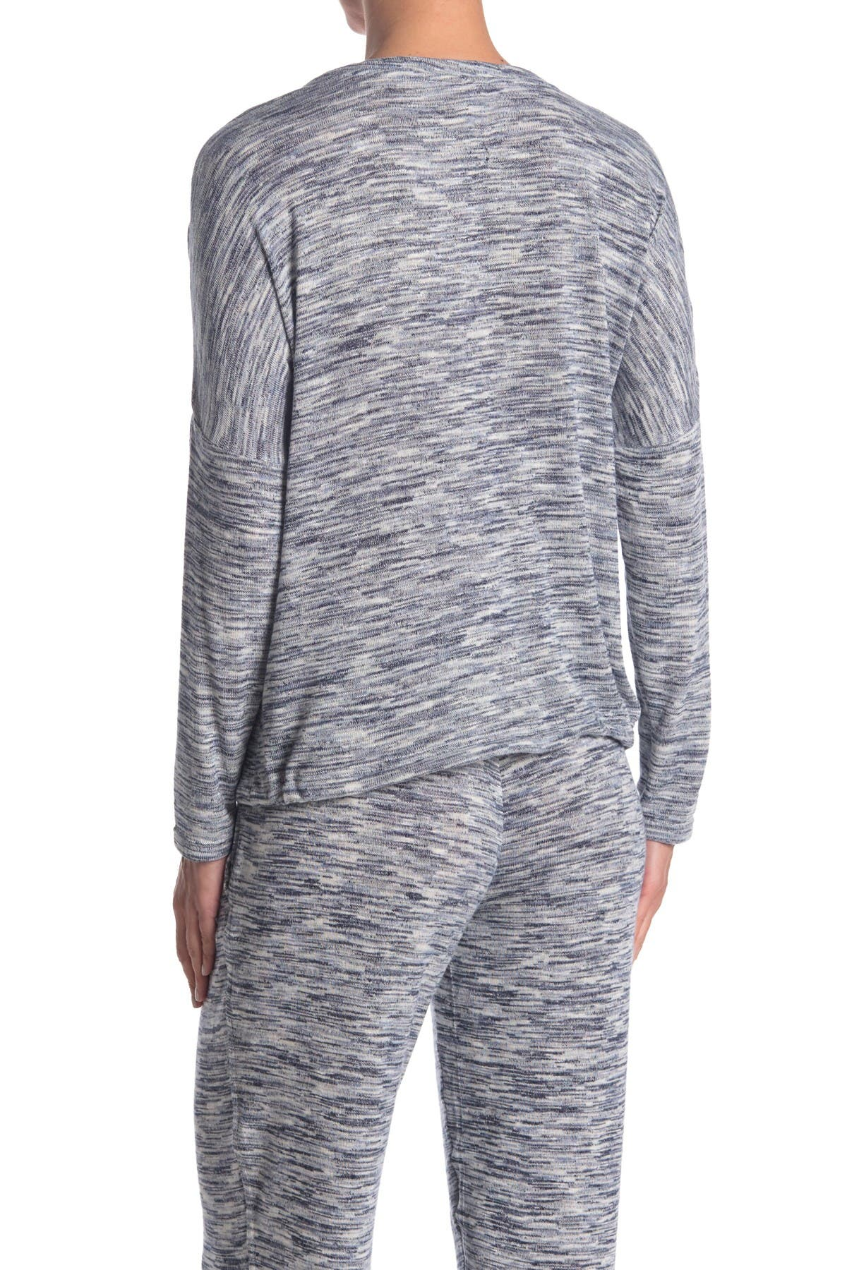 Image of HUE Space Dye Long Sleeve Pajama Shirt