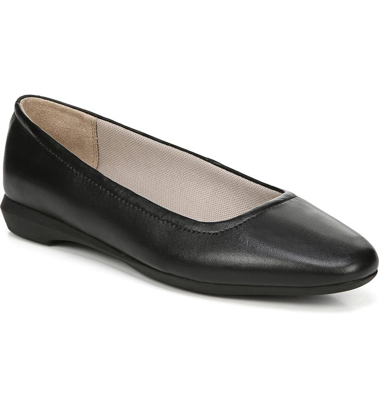 NATURALIZER Alya Flat, Main, color, BLACK LEATHER