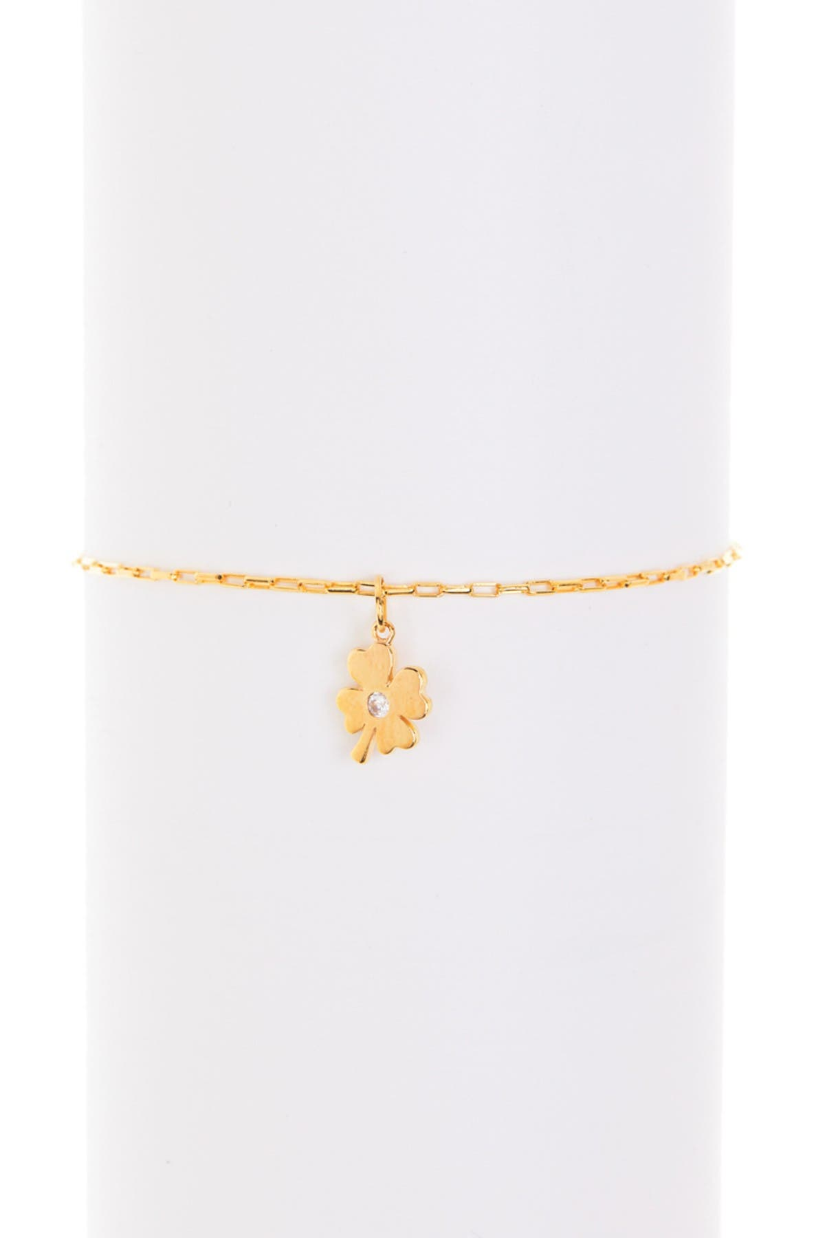 Image of Paige Novick Clover Charm Bracelet