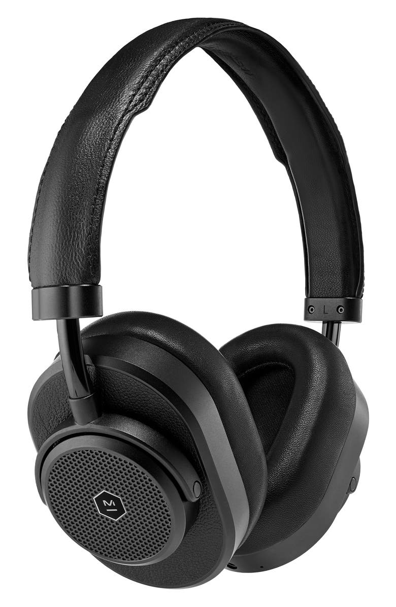 MASTER & DYNAMIC MW65 Active Noise Canceling Over-Ear Headphones, Main, color, BLACK/ BLACK