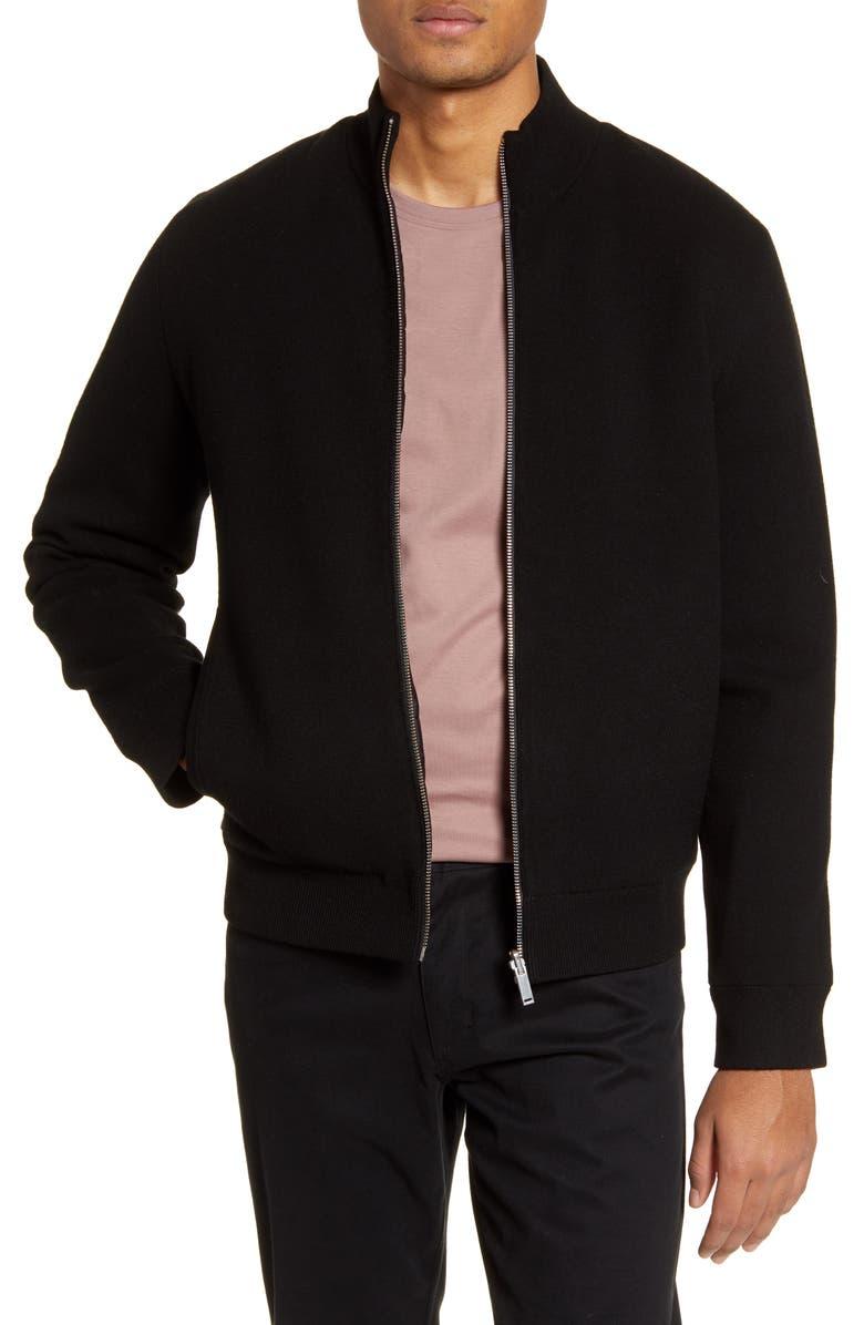 THEORY Boglio Fine Bilen Reversible Jacket, Main, color, BLACK MULTI