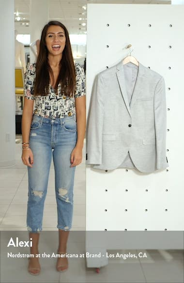 Clay Skinny Fit Twill Suit Jacket, sales video thumbnail