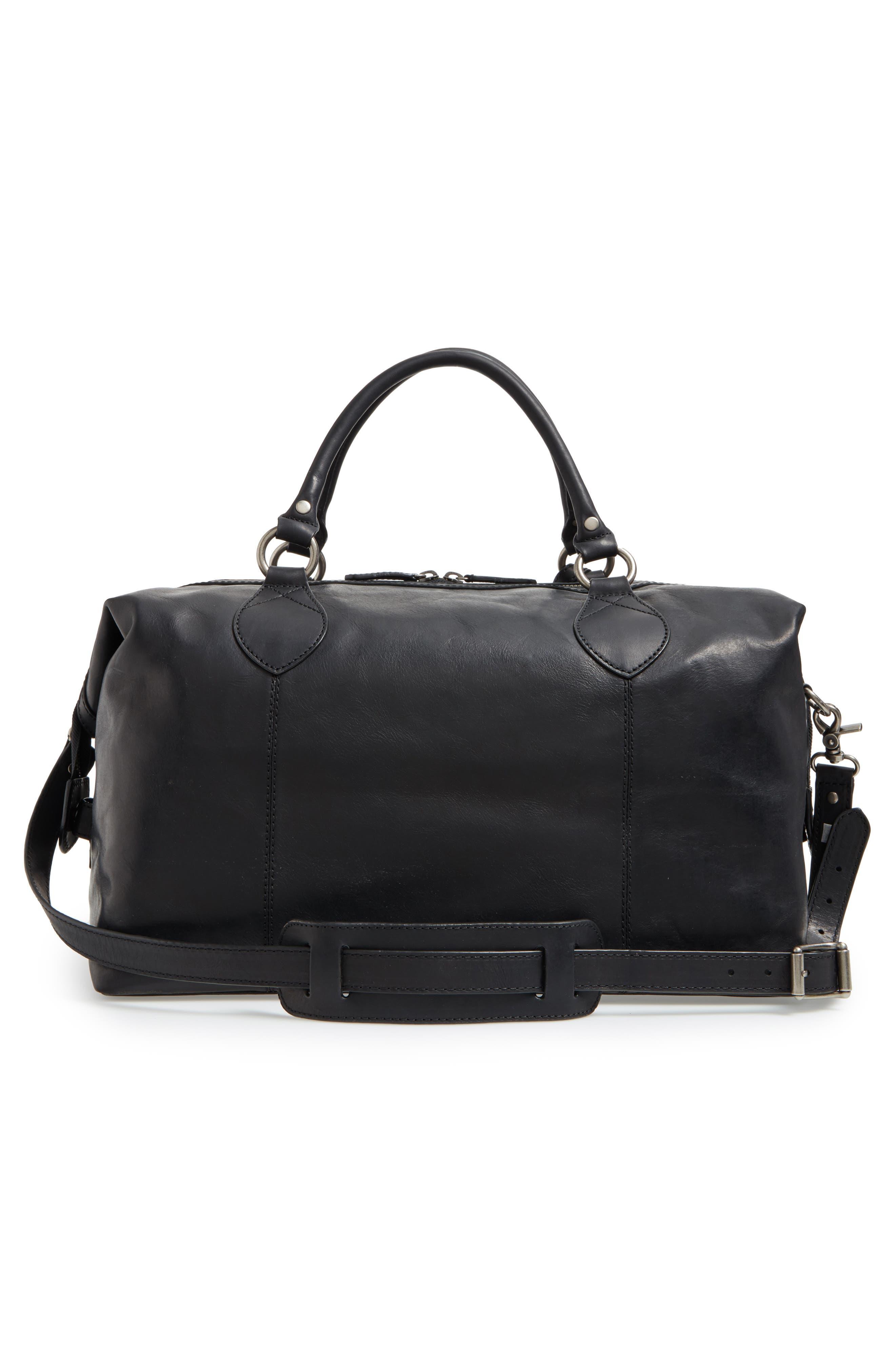 ,                             'Logan' Leather Overnight Bag,                             Alternate thumbnail 4, color,                             001