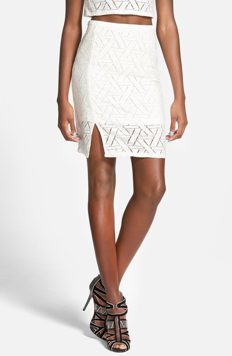 MINKPINK 'Hopscotch' Skirt, Main, color, 110