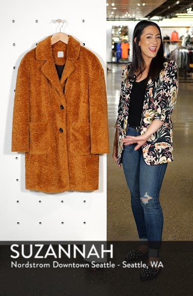 x Atlantic-Pacific Faux Fur Coat, sales video thumbnail