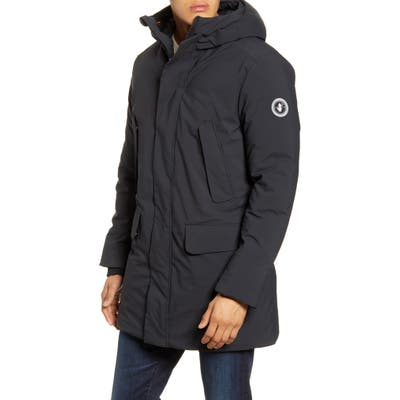 Save The Duck Water Resistant Hooded Parka, Black