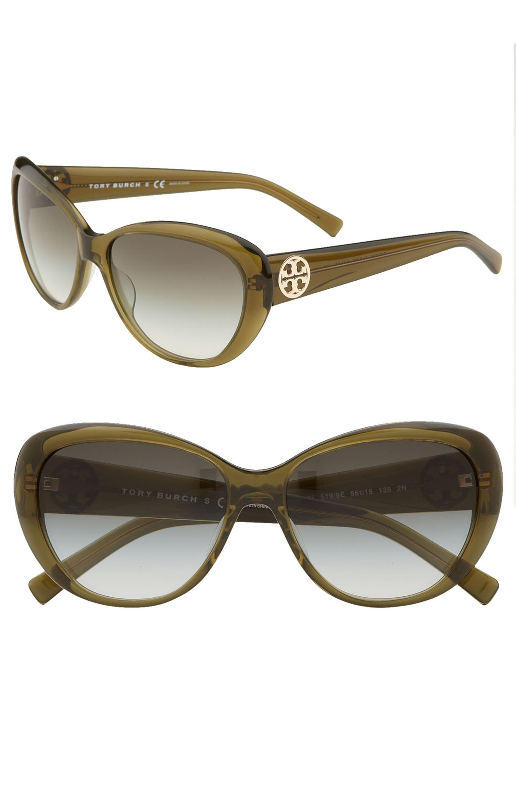 e1e31e56ce05 Tory Burch 56mm Cat Eye Sunglasses | Nordstrom