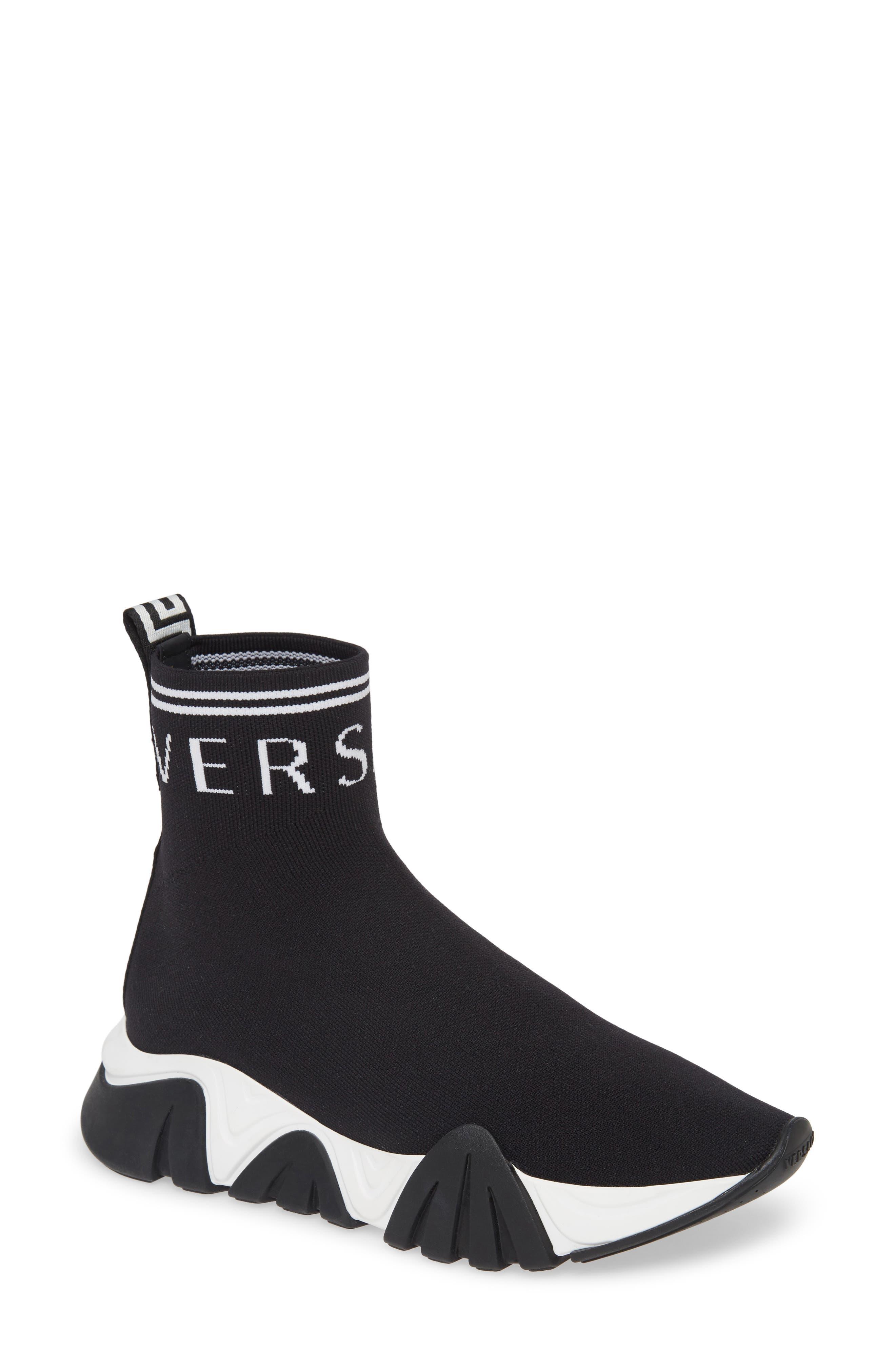 Versace Squalo High Top Sock Sneaker