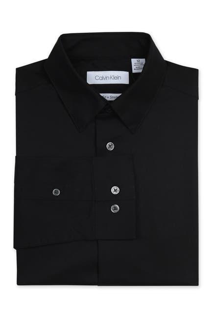 Image of Calvin Klein Solid Long Sleeve Slim Fit Shirt