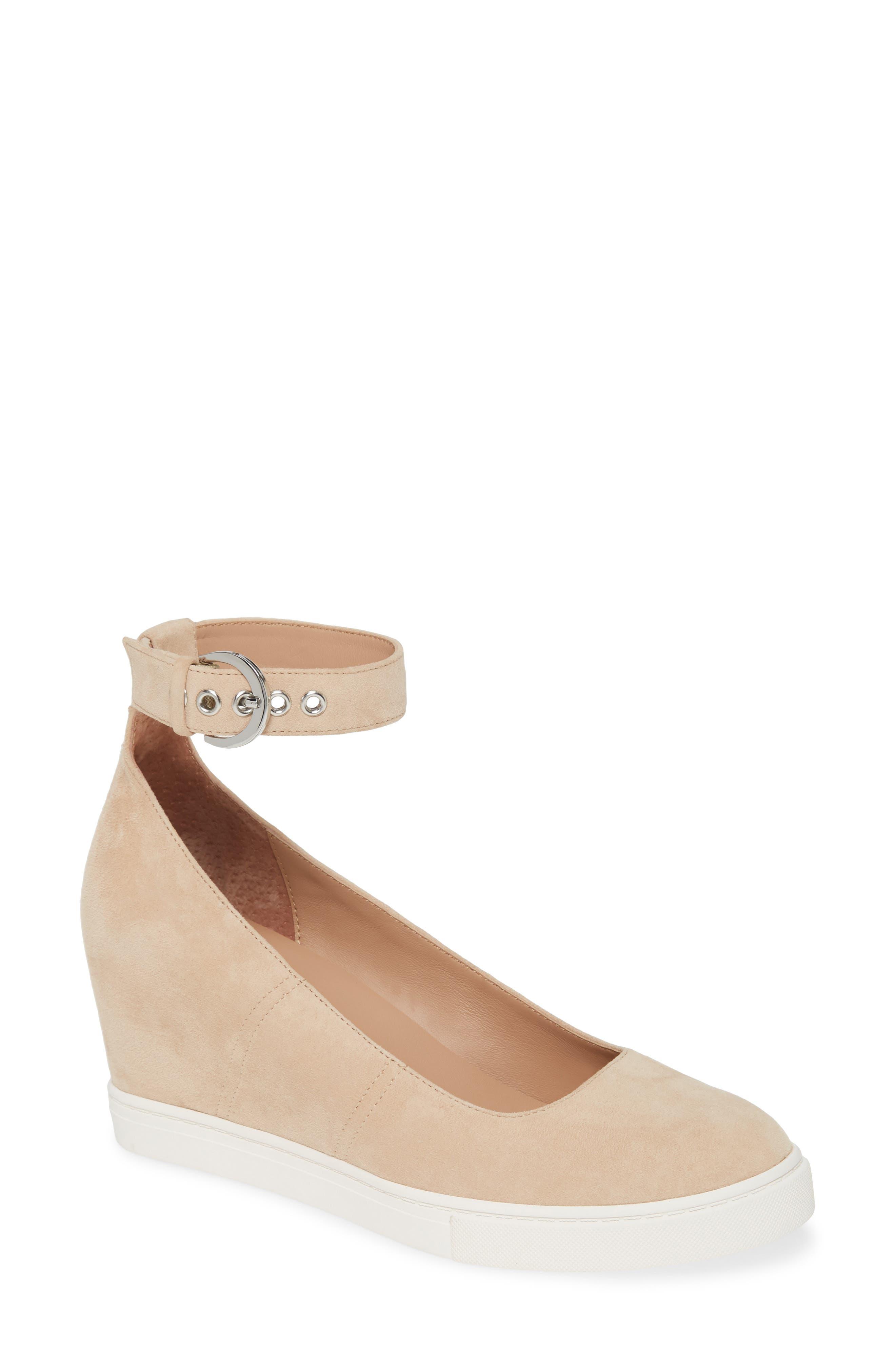 Marta Ankle Strap Wedge Sneaker