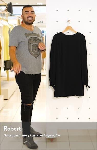Dahlia Long Sleeve Drape Back Minidress, sales video thumbnail