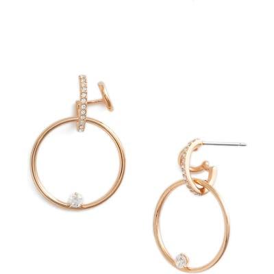 Nadri Cubic Zirconia Double Hook Earrings