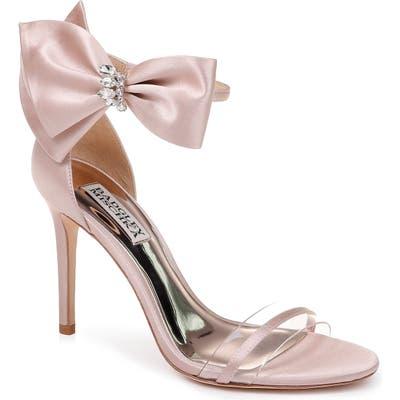 Badgley Mischka Fran Bow Ankle Strap Sandal, Pink