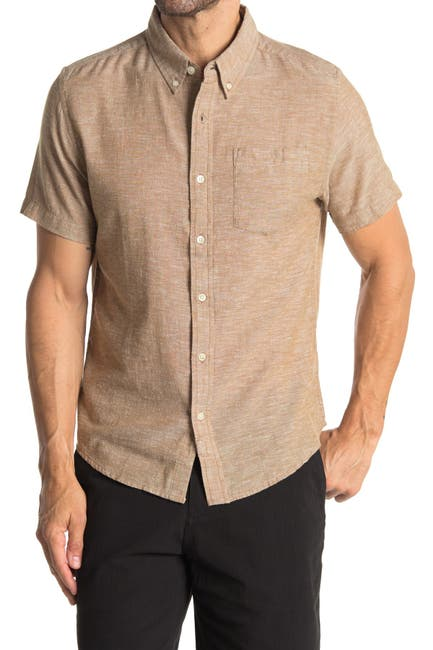Image of BRIDGE AND BURN Jordan Heathered Short Sleeve Shirt