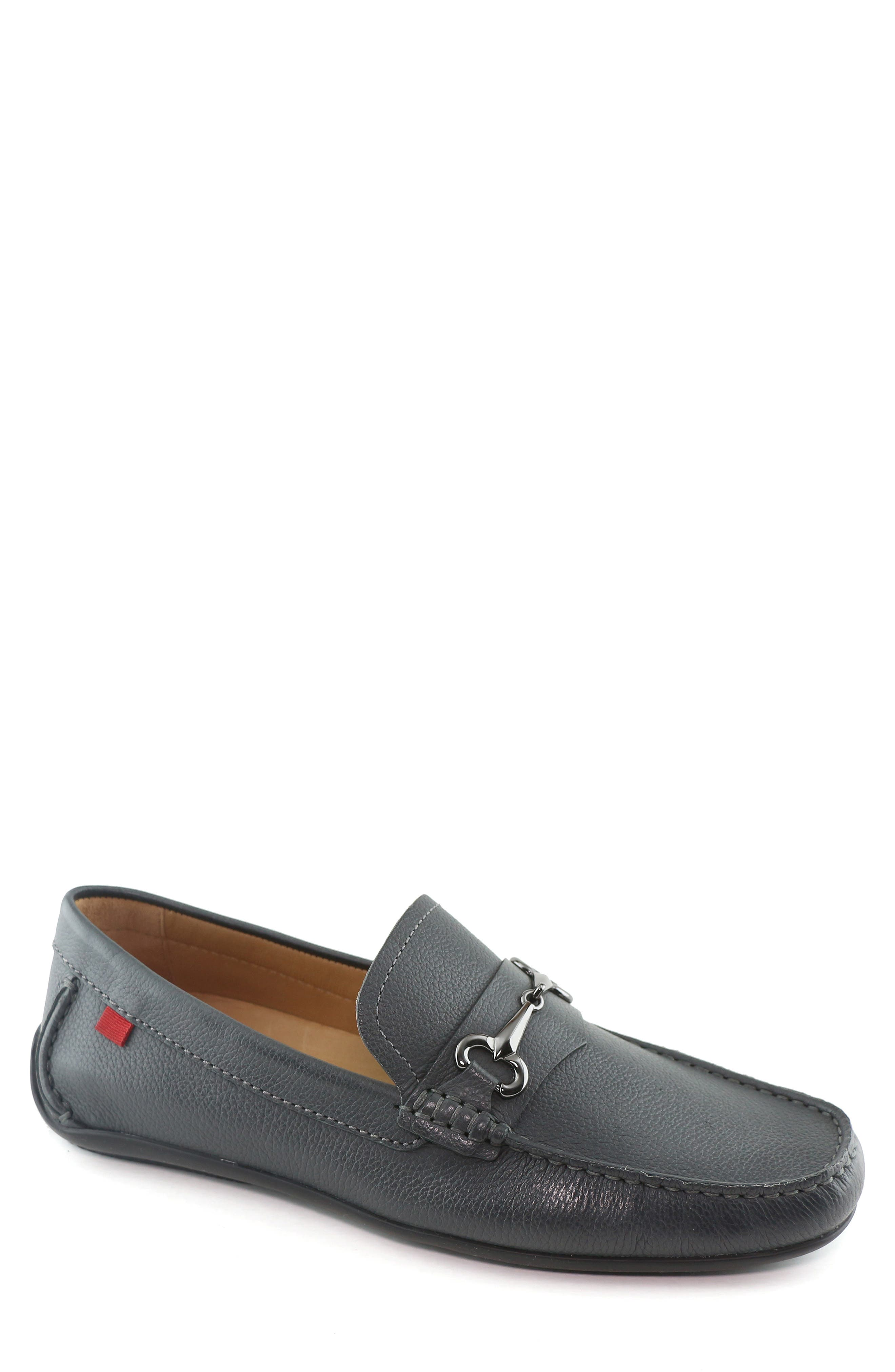 Wall Street Driving Shoe, Main, color, GREY LEATHER