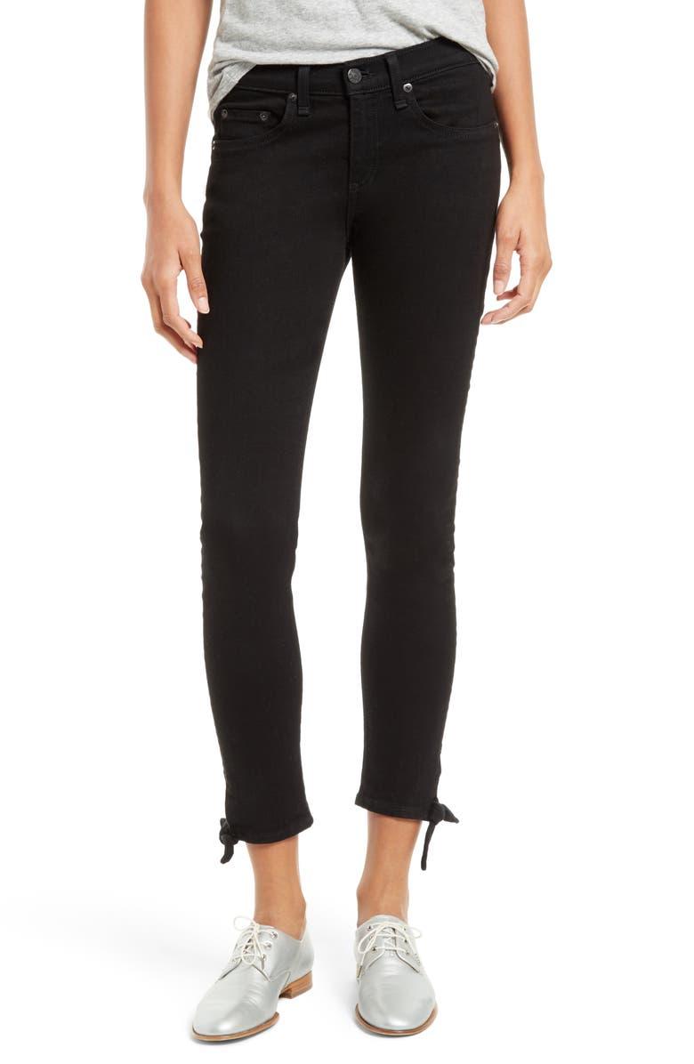 RAG & BONE/JEAN Stevie Tie Hem Capri Skinny Jeans, Main, color, 005