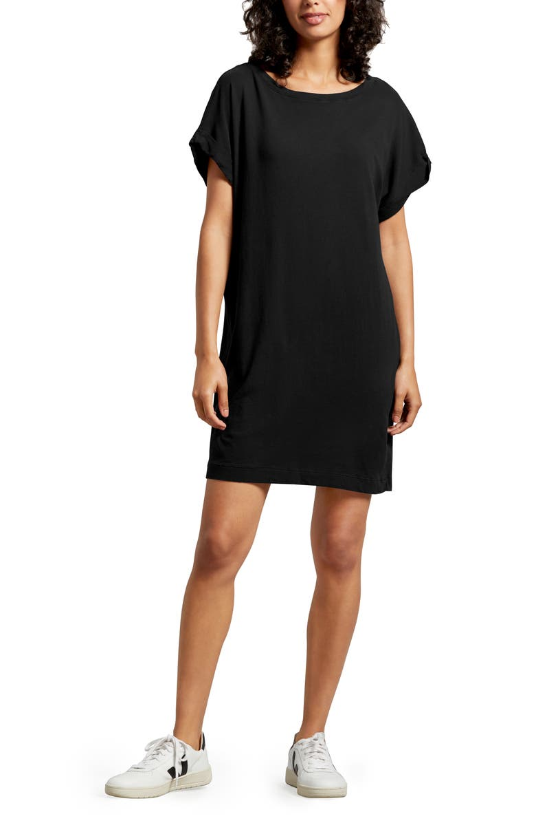 MICHAEL STARS Scarlet T-Shirt Dress, Main, color, 001
