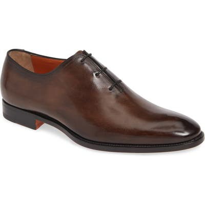 Santoni Laurence Wholecut Oxford, Brown